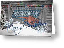 Charlotte Bobcats Greeting Card by Joe Hamilton