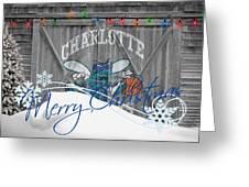 Charlotte Hornets Greeting Card by Joe Hamilton