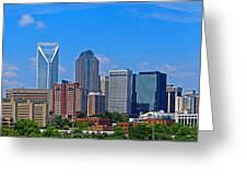 Charlotte Panorama Greeting Card by Gene Berkenbile