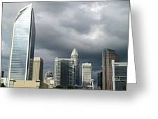 Charlotte Skyline Greeting Card by Randall Weidner