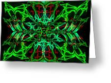 Charlotte's New Freakin' Awesome Neon Web Greeting Card by Elizabeth McTaggart