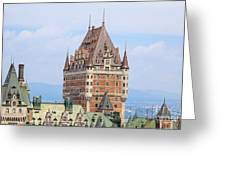 Chateau Frontenac Quebec City Canada Greeting Card by Edward Fielding