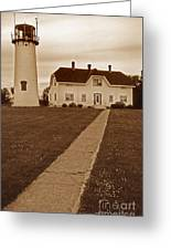 Chatham Lighthouse Greeting Card by Skip Willits