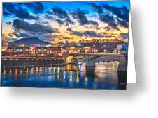 Chattanooga Evening After The Storm Greeting Card by Steven Llorca