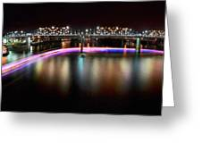 Chattanooga Holiday Boat Parade Greeting Card by Steven Llorca