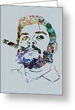 Che Watercolor Greeting Card by Naxart Studio