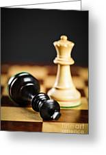 Checkmate In Chess Greeting Card by Elena Elisseeva