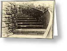 Cheekwood Stairs Cropped Greeting Card by Mark Furnell