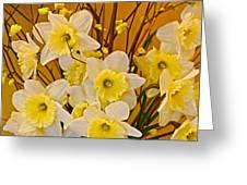 Cheerful Warmth Of Spring Greeting Card by Byron Varvarigos