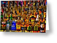 Cheers - Alcohol Galore Greeting Card by David Patterson