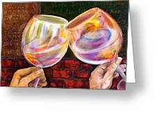 Cheers Greeting Card by Debi Starr