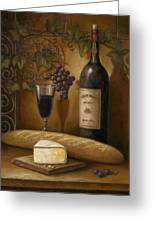 Cheese And Wine Greeting Card by John Zaccheo