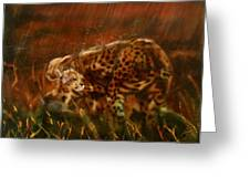 Cheetah Family After The Rains Greeting Card by Sean Connolly