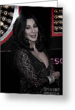 Cher Greeting Card by Nina Prommer