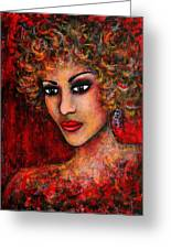 Cherise Greeting Card by Natalie Holland