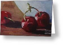 Cherries 2 Greeting Card by John Clark