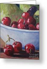 Cherries Greeting Card by John Clark