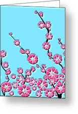 Cherry Blossom Greeting Card by Anastasiya Malakhova