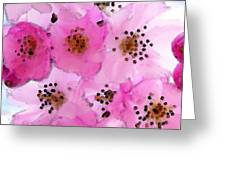 Cherry Blossoms - Flowers So Pink Greeting Card by Sharon Cummings