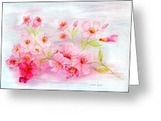 Cherry Blossoms Greeting Card by Linda Ginn