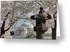 Cherry Blossoms With Jefferson Memorial - Washington Dc - 011326 Greeting Card by DC Photographer