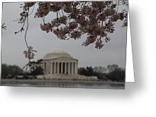 Cherry Blossoms With Jefferson Memorial - Washington Dc - 011349 Greeting Card by DC Photographer