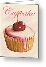 Cherry Cupcake Greeting Card by Jane Schnetlage