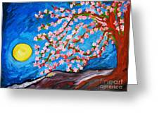 Cherry Tree In Blossom  Greeting Card by Ramona Matei