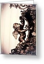 Cherub In Sepia Greeting Card by Carol Groenen