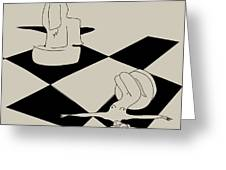 Chess And Art Greeting Card by Frida  Kaas