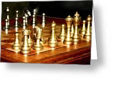 Chess Set  Greeting Card by Diane Merkle
