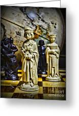 Chess - The Sacrifice Greeting Card by Paul Ward
