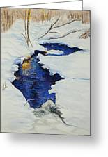 Chester Creek Greeting Card by Jocelyn Paine