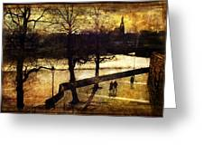 Chester Riverwalk Greeting Card by Mal Bray