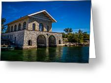 Chester Thordarson Boathouse  Greeting Card by Chuck De La Rosa