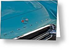 Chevrolet Corvette Hood Emblem 2 Greeting Card by Jill Reger