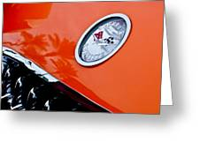 Chevrolet Corvette Hood Emblem Greeting Card by Jill Reger