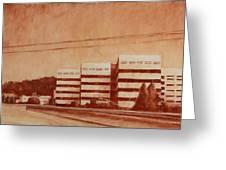 Chevron  Greeting Card by Jeff Levitch