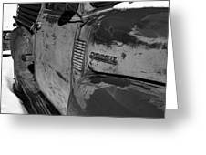 Chevy B/w Greeting Card by Gia Marie Houck