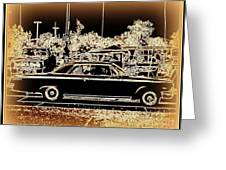 Chevy Glow Greeting Card by Bobbee Rickard
