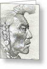 Cheyenne Medicine Man Greeting Card by Bern Miller