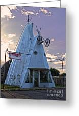 Cheyenne Wyoming Teepee - 03 Greeting Card by Gregory Dyer