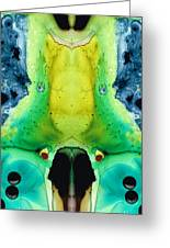 Chi Ant - Aka Mr Happy Bug By Sharon Cummings Greeting Card by Sharon Cummings