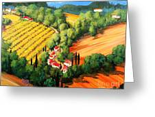 Chianti Road Greeting Card by Michael Swanson