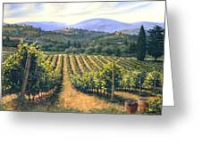 Chianti Vines Greeting Card by Michael Swanson