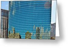 Chicago - 333 West Wacker Drive Greeting Card by Christine Till