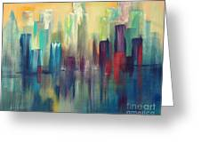 Chicago A Reflection Greeting Card by Julie Lueders