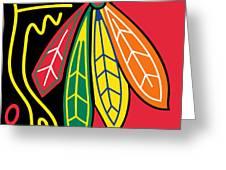 Chicago Blackhawks Greeting Card by Tony Rubino