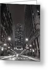 Chicago Board Of Trade B W Greeting Card by Steve Gadomski