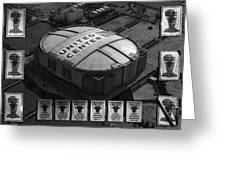 Chicago Bulls Banners In Black And White Greeting Card by Thomas Woolworth
